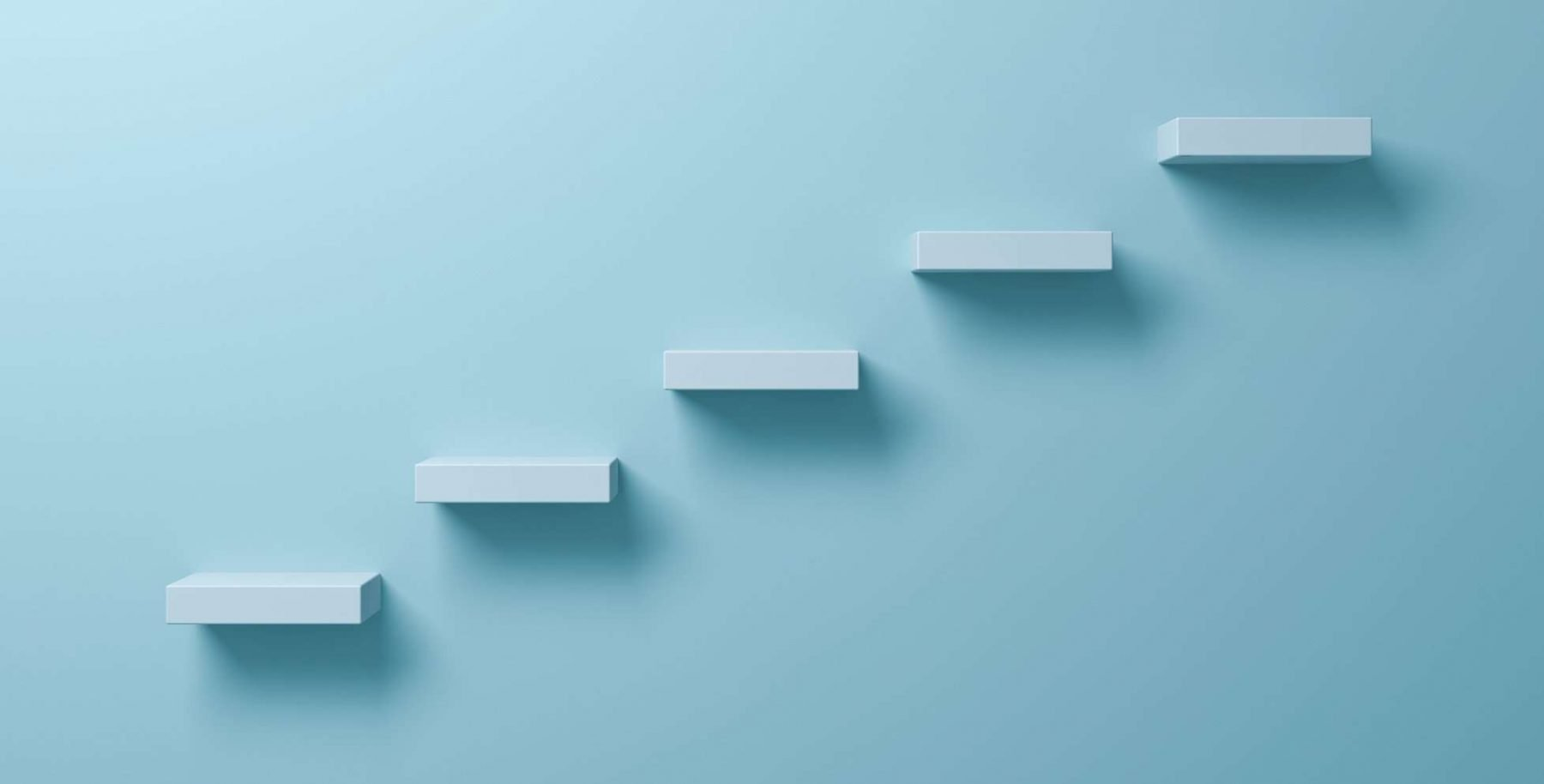This is a picture of Abstract stairs or steps concept on light green pastel color wall background Competitor Research and the 5 ways to use it by Octopus Competitive Intelligence helping you beat your competitor and increase sales