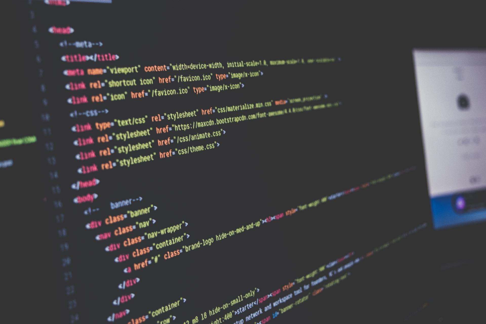 This is a picture a PC screen with coding displayed for an article called Market Intelligence Professional Vivek Bhalla of MongoDB Answers Our Questions by Octopus is a Competitive Intelligence Competitor Analysis focused on creating certainty