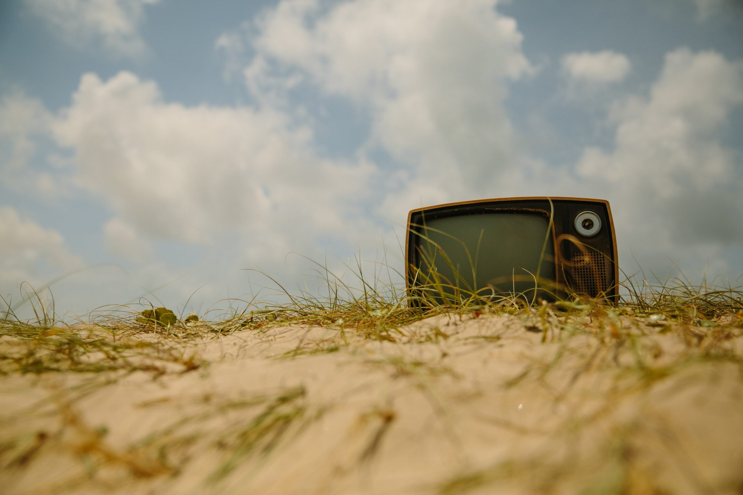 This is a picture of am old tired television on a beach for a case study called Consumer electronics Competitor Analysis case study showed how they were getting beaten by Octopus is a Competitive Intelligence Competitor Analysis focused on creating certainty