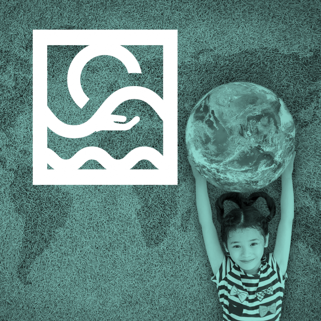 This is a picture of a girl lifting up a global for our Intelligence driven ESG page by Octopus Competitive Intelligence providers of more certainty within the ESG world